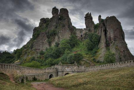 rock formations - Belogradchishki skali Bulgaria Stock Photo - 5229781