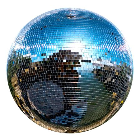spinning disco ball isolated on white Stock Photo - 5376271