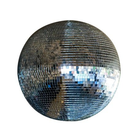 miror: spinning disco ball isolated on white