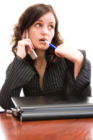 businesswoam talking on the phone Stock Photo - 6508369