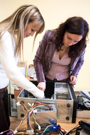first steps in trying to fix a computer hardware Stock Photo - 6506334