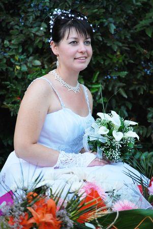 beautiful happy smiling bride portrait Stock Photo - 6534707