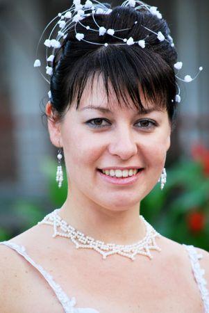 beautiful happy smiling bride portrait Stock Photo - 6534703