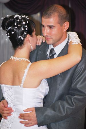 groom and bride first dance photo