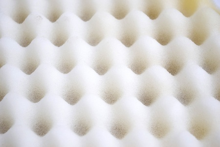 Closeup background of acoustic foam wall Standard-Bild