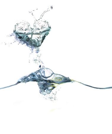 water shaped as a heart Stok Fotoğraf - 9454000