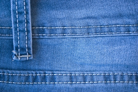 white clothing: blue denim jeans close up texture Stock Photo