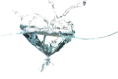 health and beauty: water shaped as a heart Stock Photo