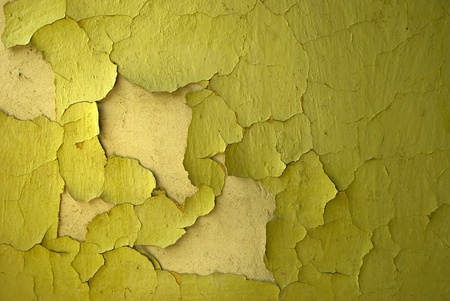 old cracked green wall texture Standard-Bild