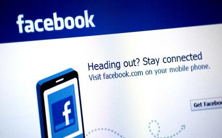 Facebook Logo on a laptop screen