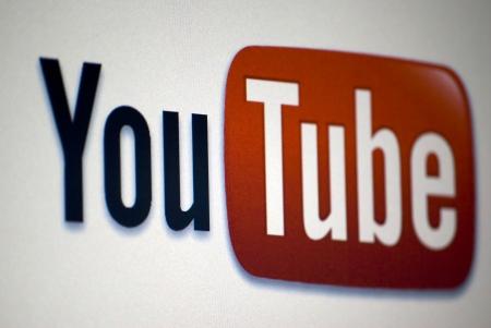 YouTube Logo op een laptop scherm