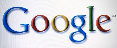 google logo on laptop screen