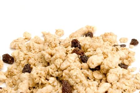 musli cereals isolated on white background photo
