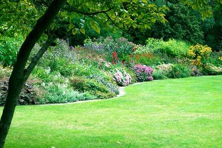 kleurrijke bloementuinen in Regent