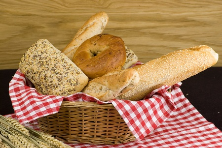 variety of different freshly baked bread in baskets Stock Photo - 12989856