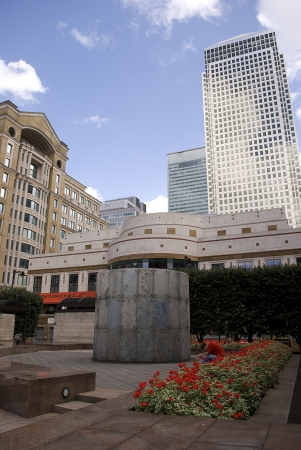 Canary Wharf famous skyscrapers of Londons financial district