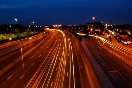 traffic lights on highway East London UK photo