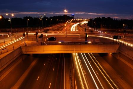 traffic lights on highway East London UK