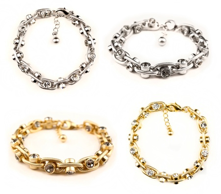 bracelet: bracelet jewellery isolated on white background Stock Photo