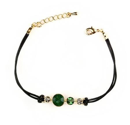 aventurine: bracelet jewellery isolated on white background Stock Photo
