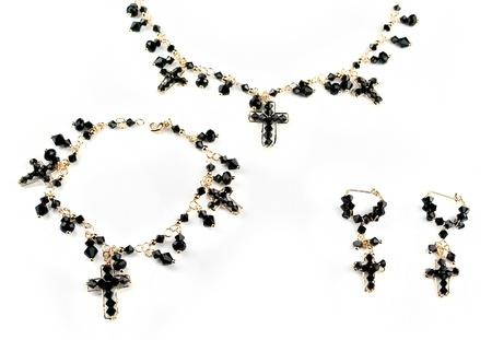 jewellery set isolated on white background Stock Photo - 16933359