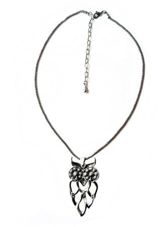 aventurine: necklace jewellery isolated on white background Stock Photo