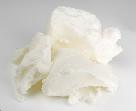 mantequilla: manteca de karit� org�nica base de jab�n Foto de archivo