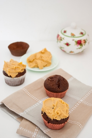 butter icing: delicious homemade cupcakes with peanut butter icing