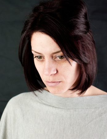 conceptual portrait of stressed abused young woman  Stock Photo - 20133612