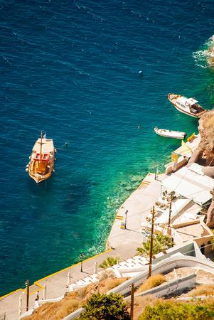 santorini caldera: Oia Santorini Greece famous with romantic and beautiful sunsets