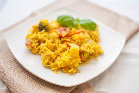 地中海野菜と鶏肉のターメリック バスマティ ライス