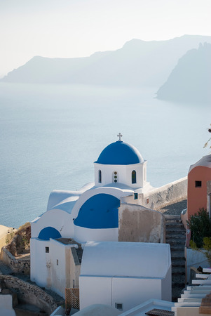 caldera: Oia Santorini Greece famous with beautiful romantic sunsets