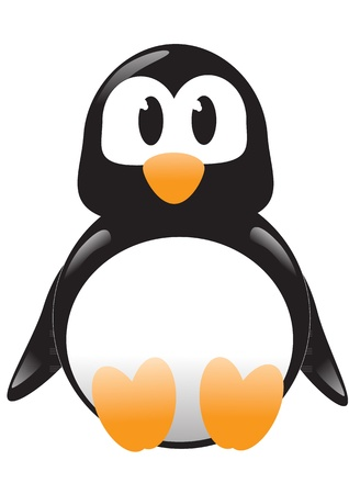 Cartoon illustration of vector Penguin