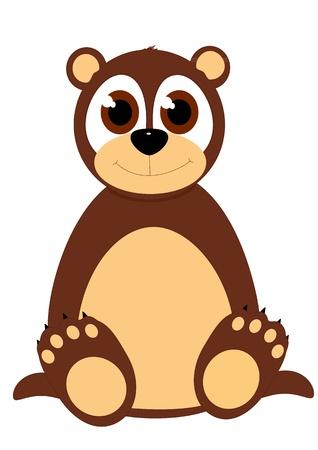 Cartoon vector bear sitting down Stock Vector - 15000162