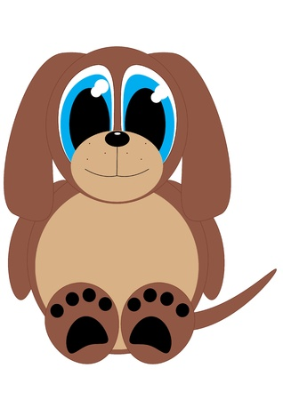 Cartoon vector dog Illustration