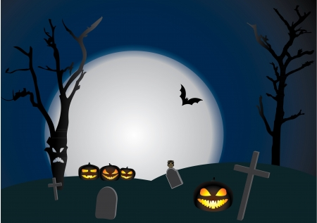 Vector Halloween background   scene