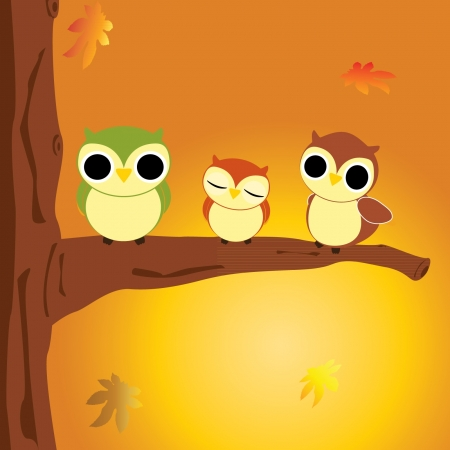 Vector illustration of an Autumn scene Stock Vector - 15258850
