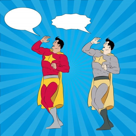 vector illustration of a superhero