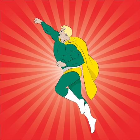 Vector illustration of a Flying Superhero Stock Vector - 17775975