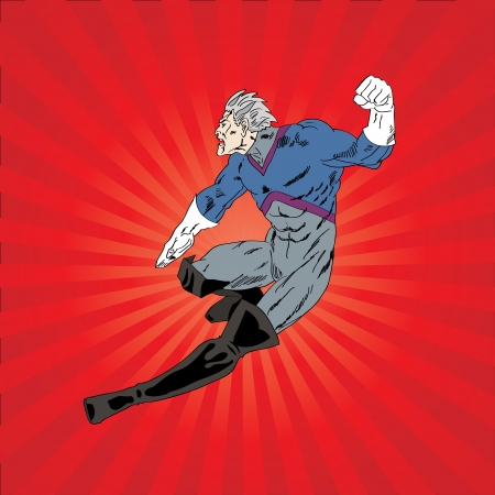vector illustration of a superhero Stock Vector - 17776015