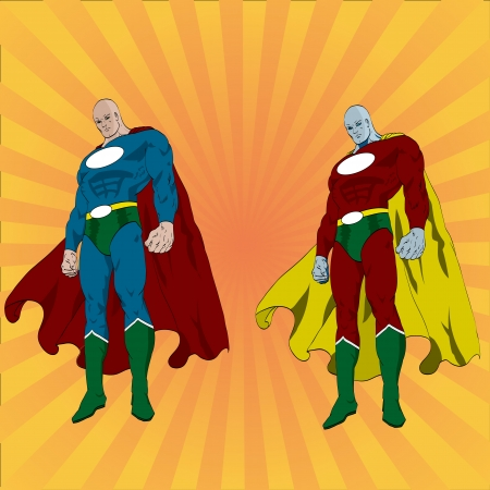 Vector illustration of a superhero Stock Vector - 17776010