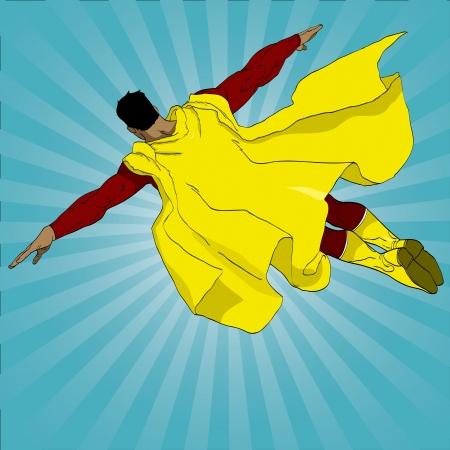 Vector illustration of a superhero flying Stock Vector - 17775981