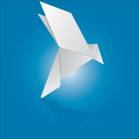 ilustración vectorial de una paloma origami Ilustración de vector
