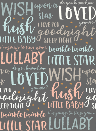 vector baby typography seamless pattern background surface pattern design Illustration