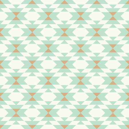 vector triball kilim mint and gold geometric seamless repeat pattern backround Stock Illustratie