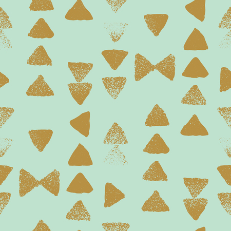 vector textured triangle gold and mint seamless repeat pattern background