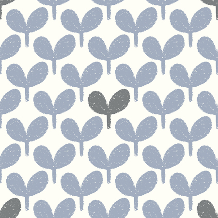 vector blue and gray leaf seamless repeat pattern Illustration