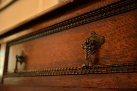 dresser: drawer on an antique dresser