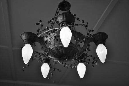 chandelier: antique chandelier Stock Photo