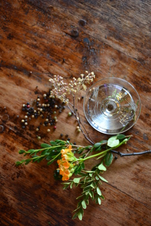 cocktail and botanicals
